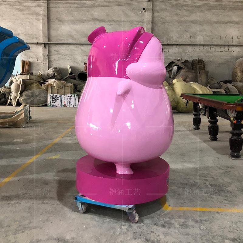 玻璃钢大型公仔雕塑定制门店迎宾玩偶胖鸟摆件