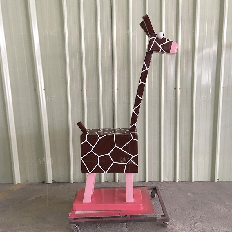 玻璃钢雕塑定制卡通动物几何鹿雕塑