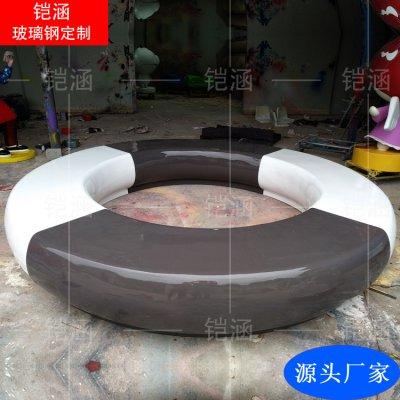 玻璃钢商场美陈休闲座椅定制