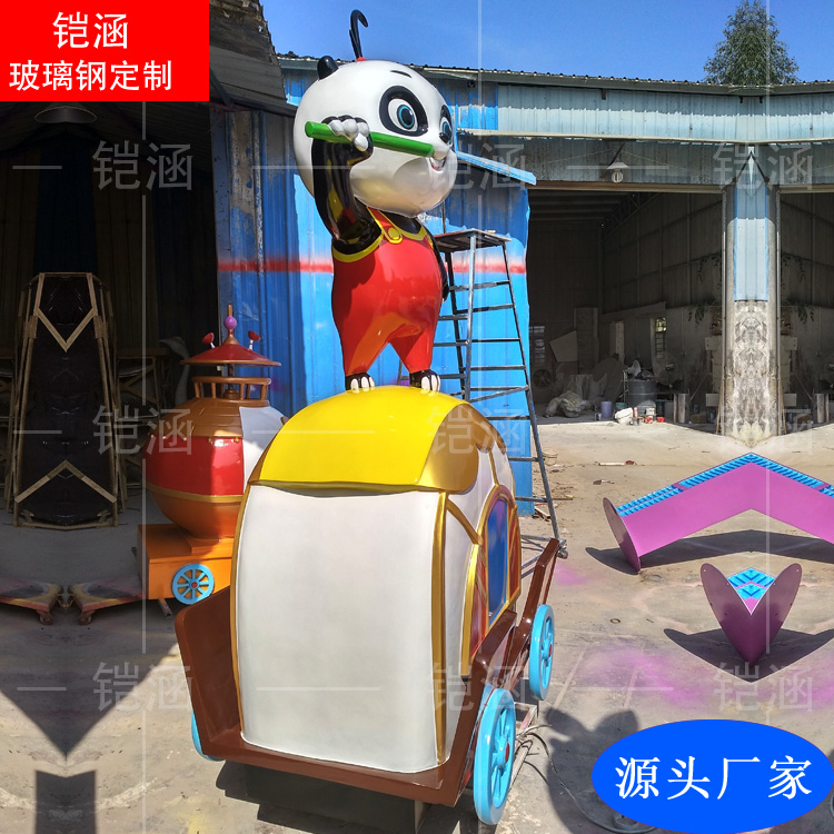 玻璃钢雕塑定制:熊猫雕塑摆件
