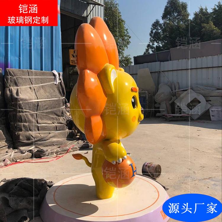 玻璃钢狮子雕塑
