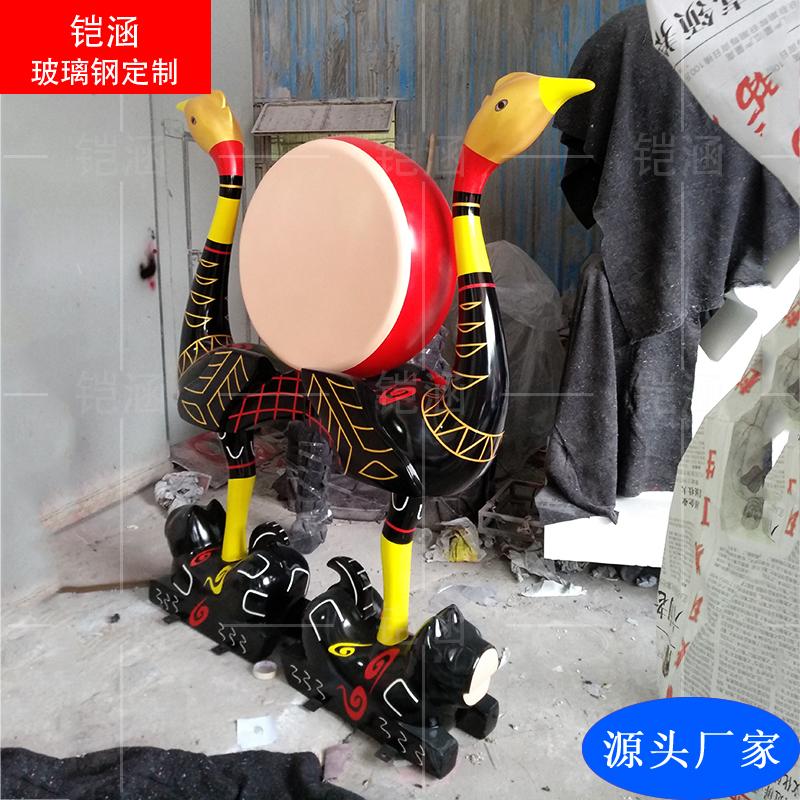 玻璃钢丹顶鹤雕塑