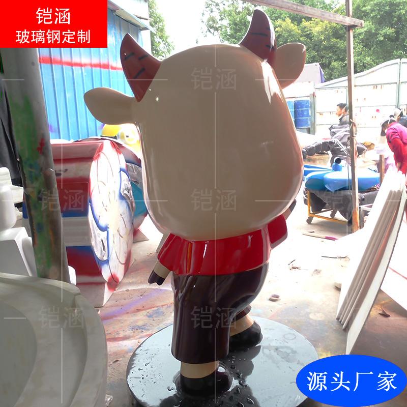 玻璃钢水牛雕塑定做