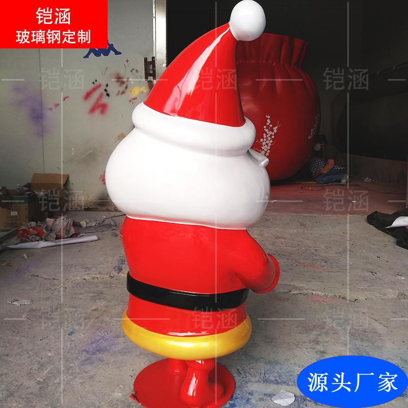 玻璃钢圣诞老人雕塑定做