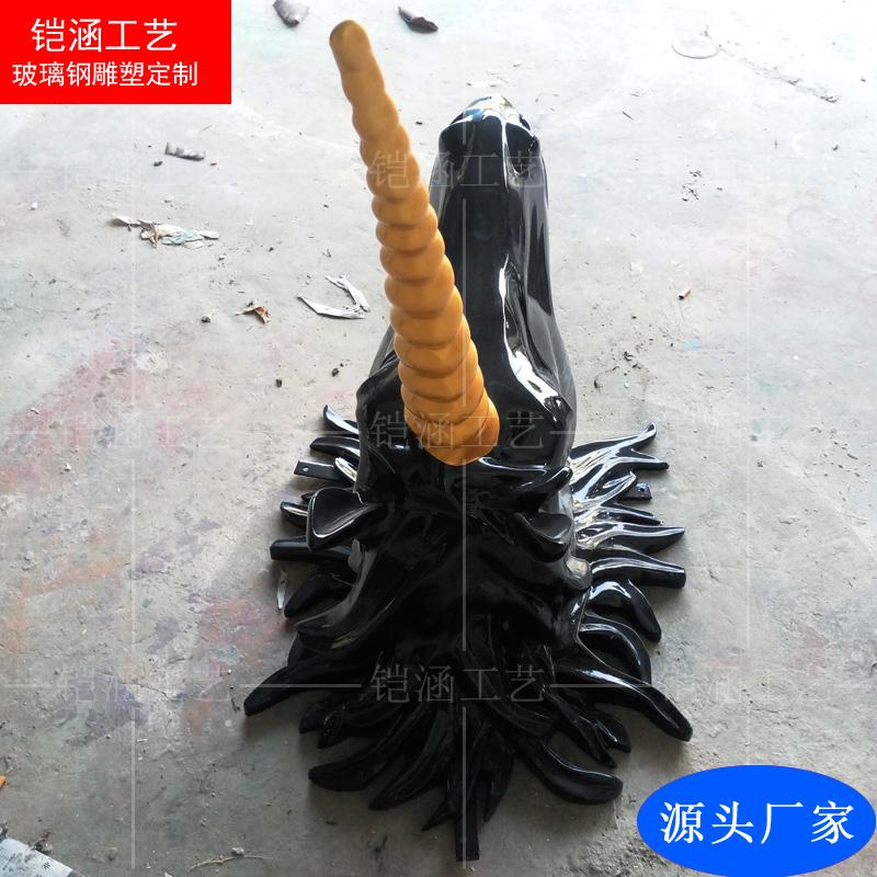 玻璃钢独角兽雕塑