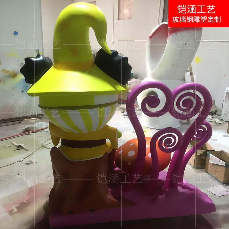 商场美陈:魔术师雕塑定做