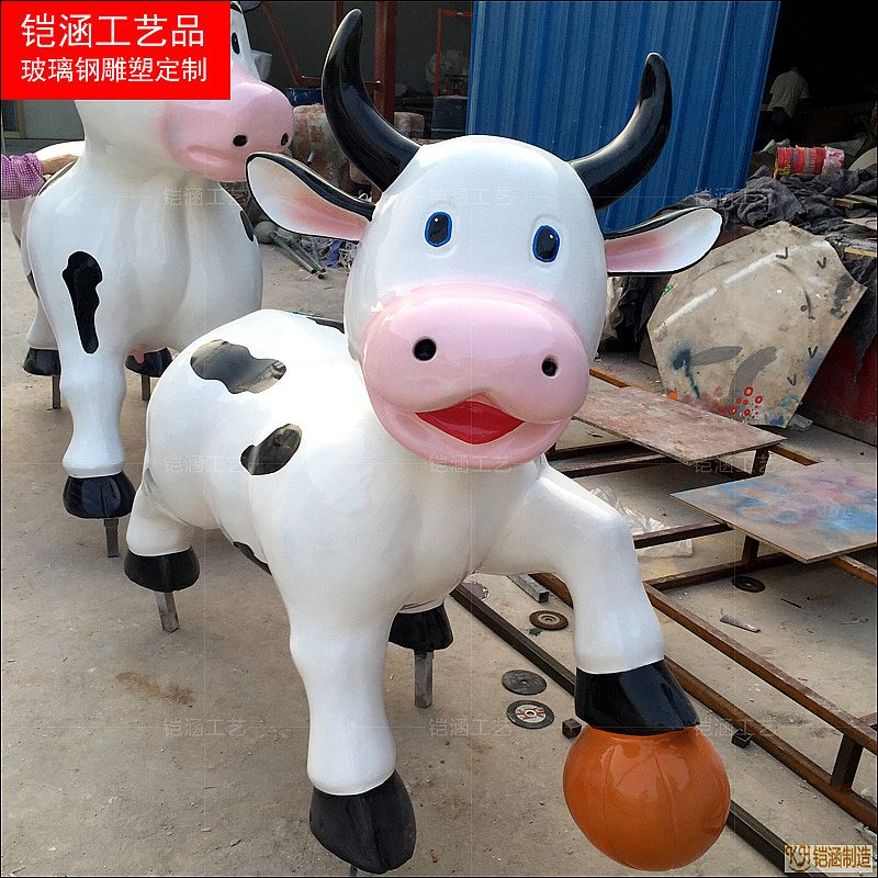 玻璃钢奶牛雕塑系列定做