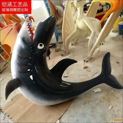 海洋生物雕塑:鲨鱼定制