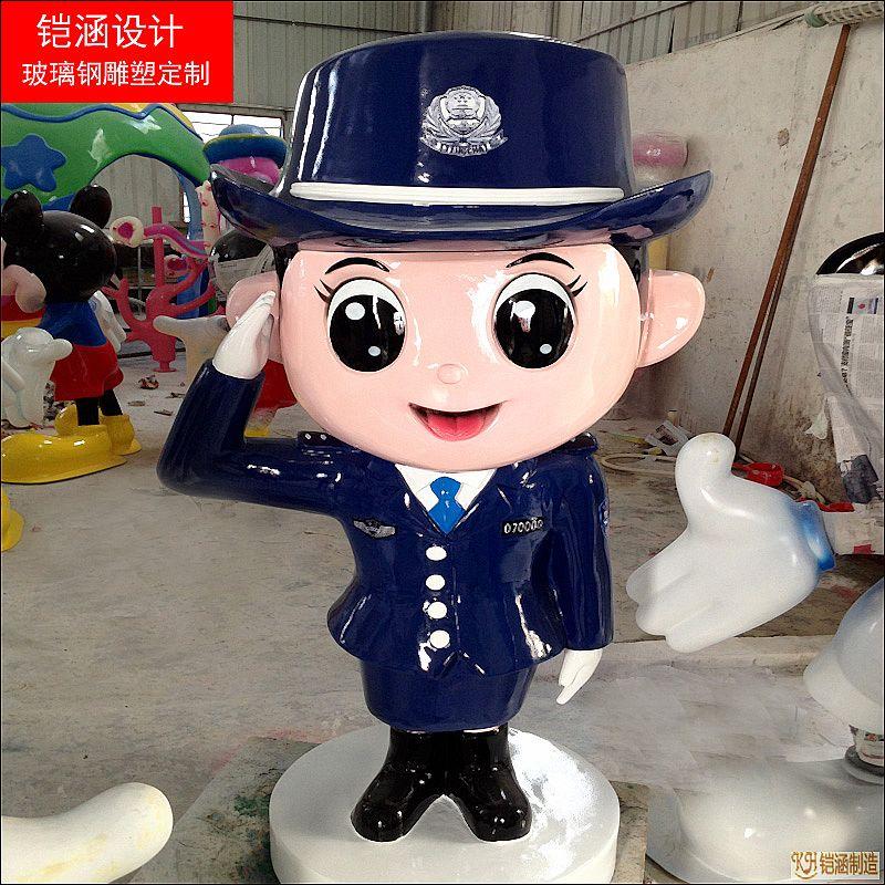 仿真警察雕塑定制