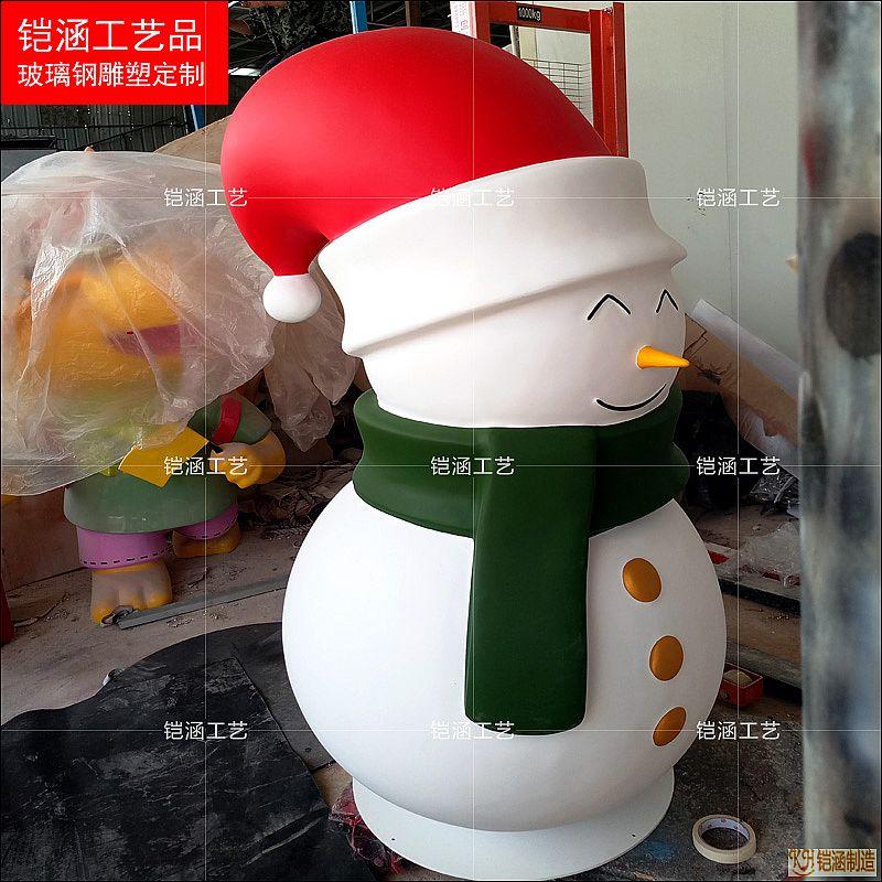 圣诞雪人雕塑定做