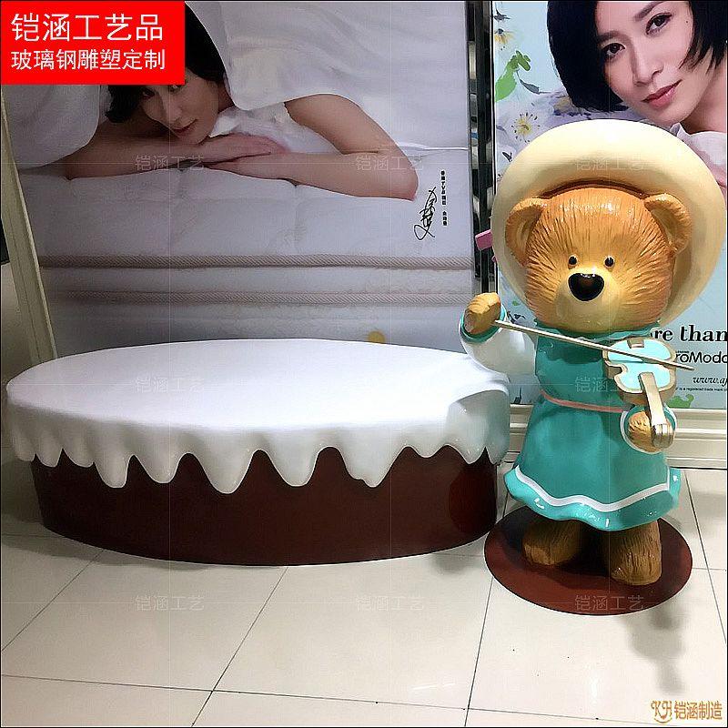 卡通小熊主题商场美陈雕塑