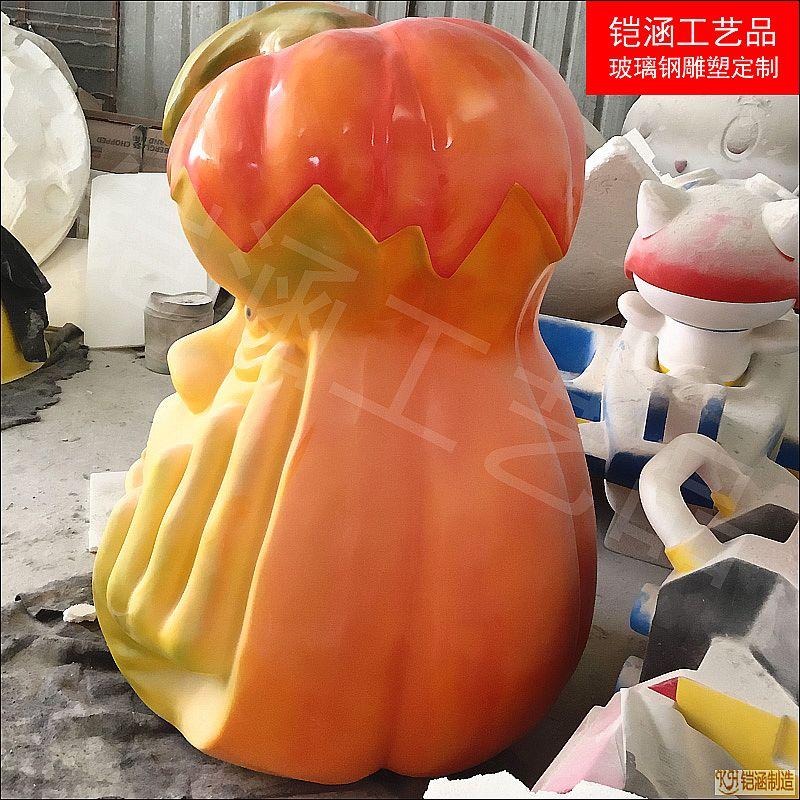 玻璃钢南瓜人头雕塑