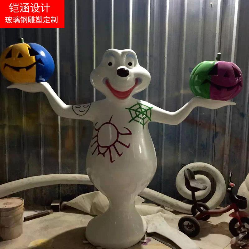 万圣节玻璃钢鬼怪雕塑2