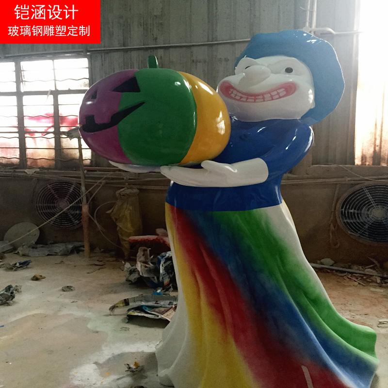万圣节玻璃钢鬼怪雕塑