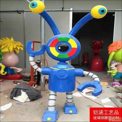 玻璃钢电磁人雕塑