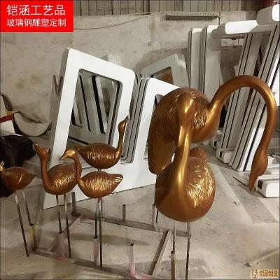 仿铜天鹅雕塑系列定做