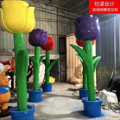 郁金香花系列雕塑