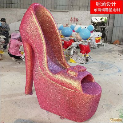 玻璃钢高跟鞋小品