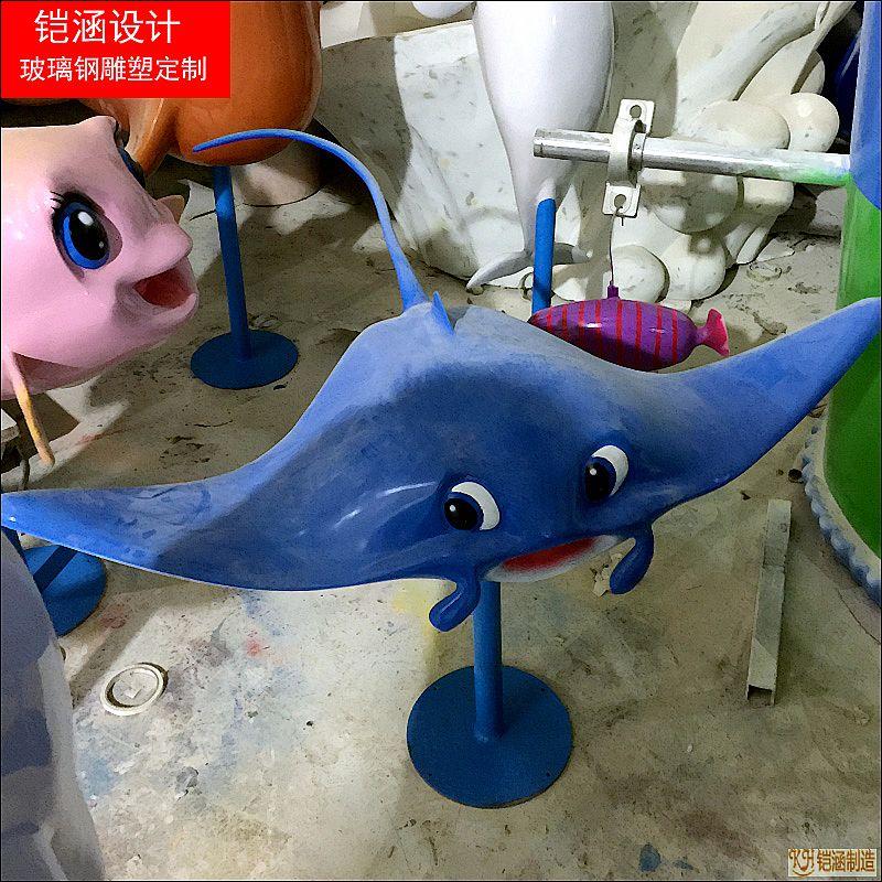 魔鬼鱼鲨鱼系列雕塑