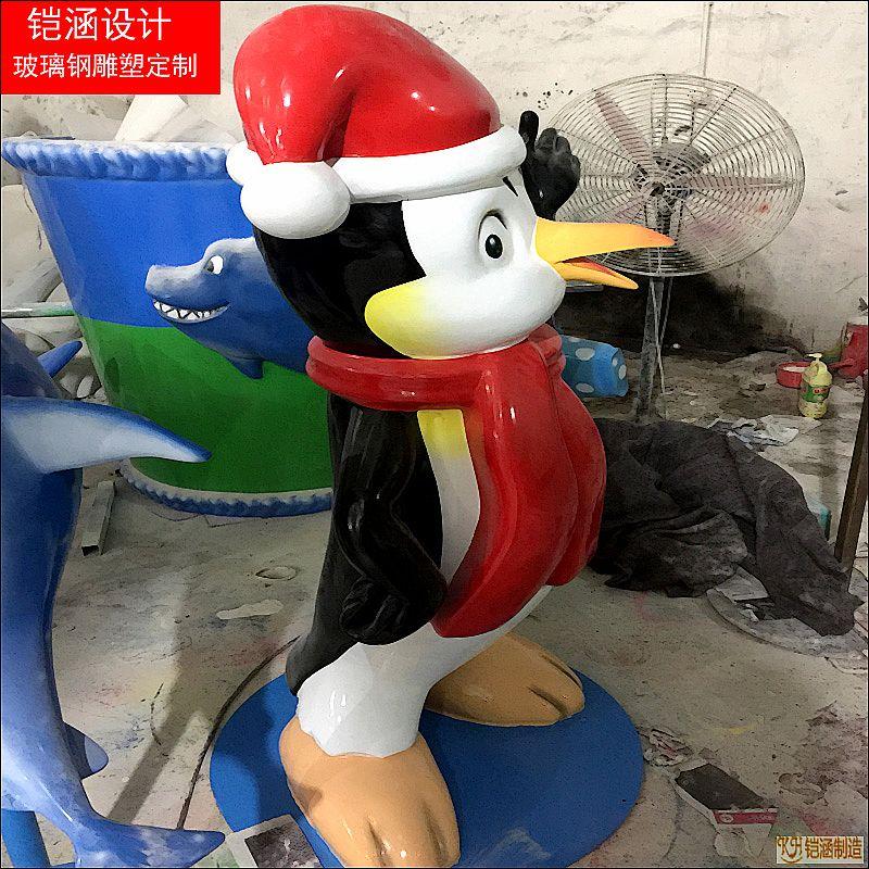 圣诞企鹅雕塑