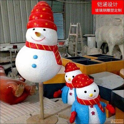 圣诞雪人雕塑