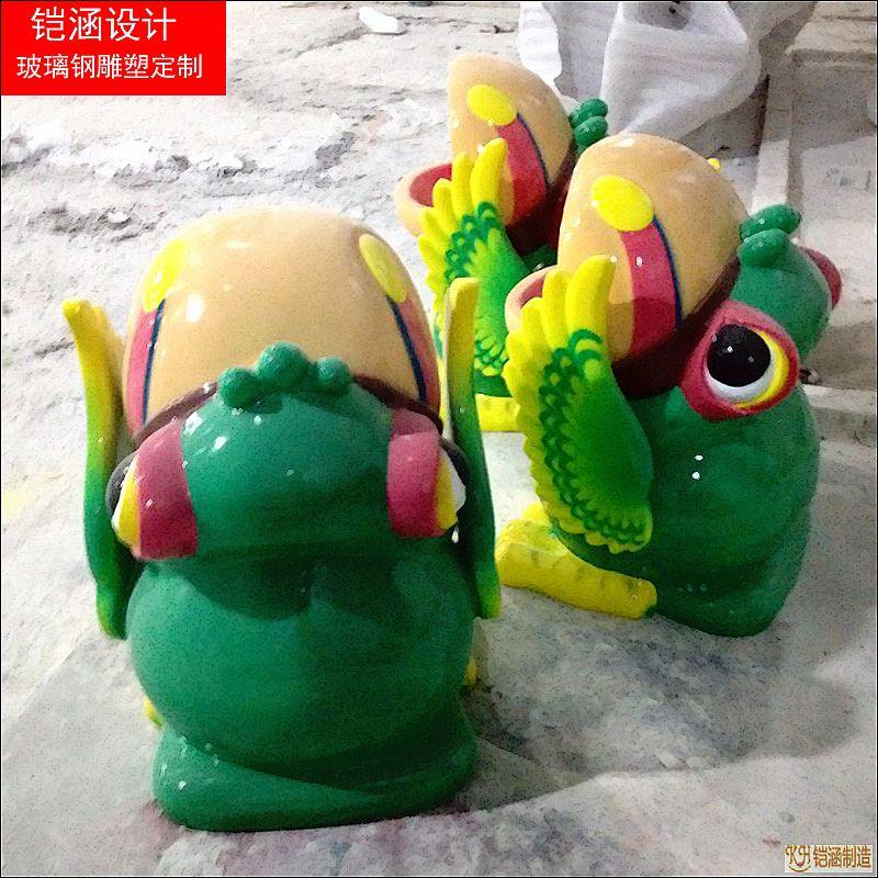 玻璃钢青蛙垃圾桶
