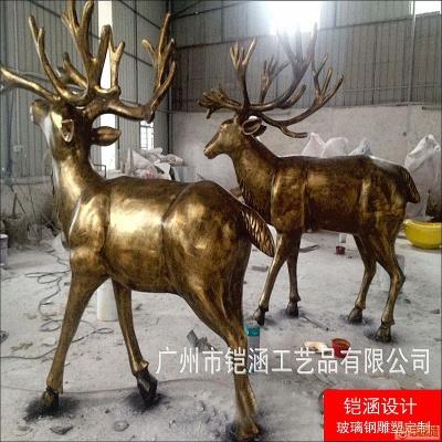 仿铜鹿雕塑