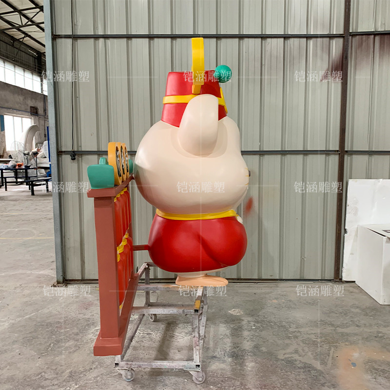 财神老鼠雕塑定制