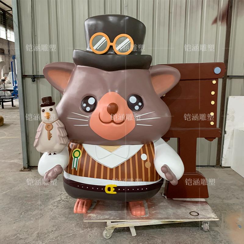 英伦老鼠雕塑定制