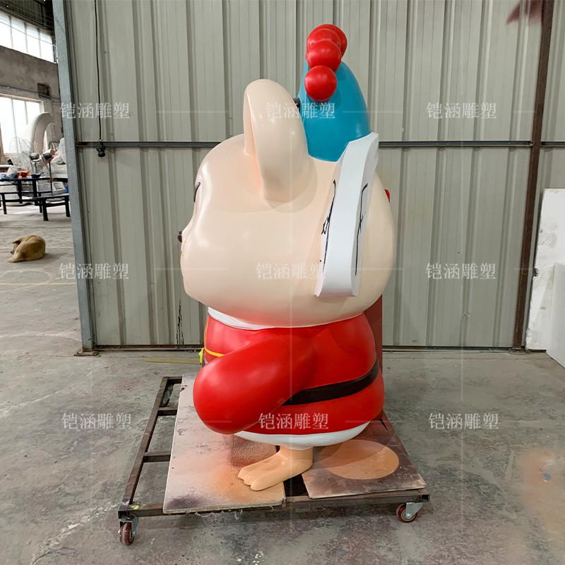 双喜老鼠雕塑定制