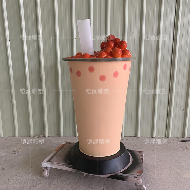 亦歇茶饮奶茶杯雕塑定制