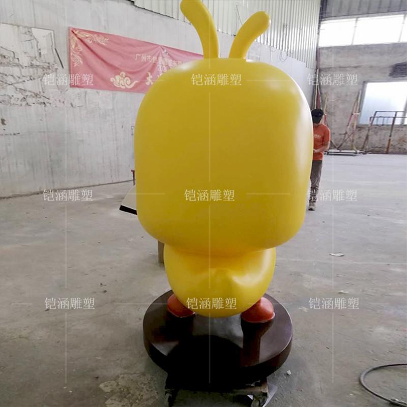 禁毒小黄鸭雕塑