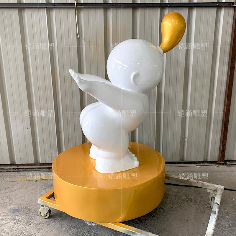 艺术吹泡泡人雕塑定制