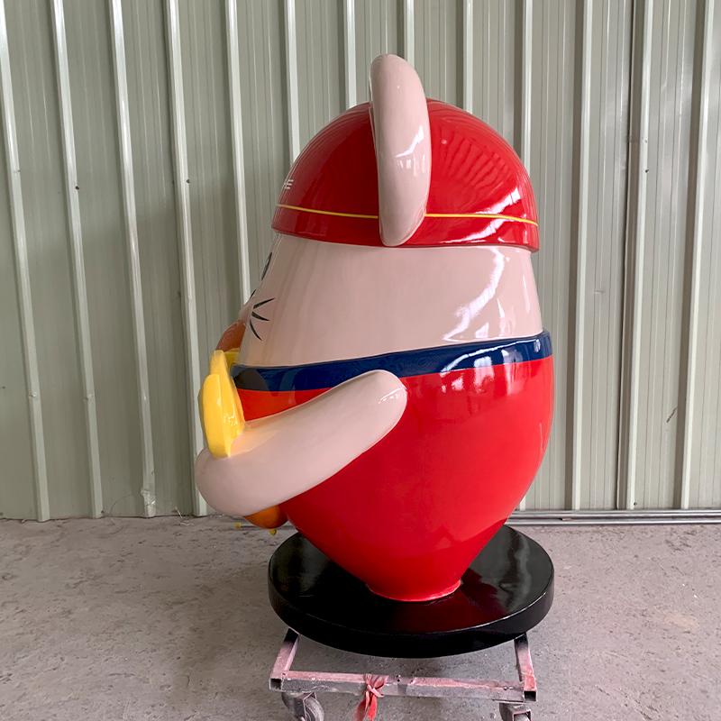 玻璃钢锦鲤鼠雕塑定制