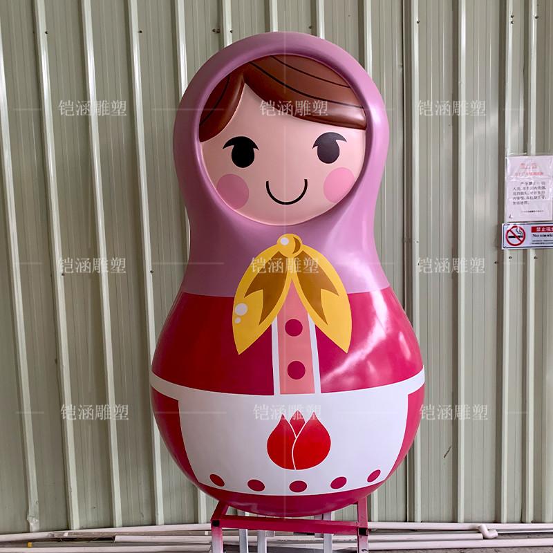俄罗斯套娃雕塑定制