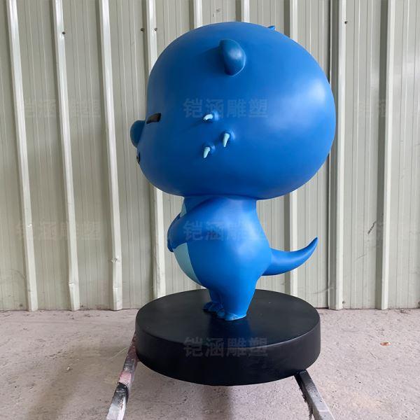 蓝河狸 卡通 玻璃钢 雕塑 定制
