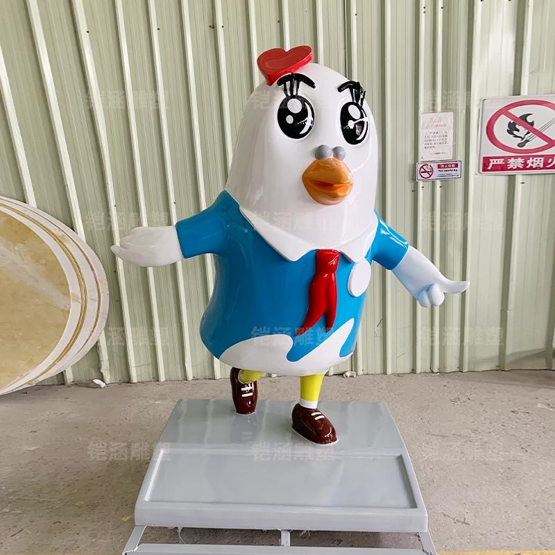吉祥物 鸽子 雕塑 卡通 玻璃钢  雕塑 定制