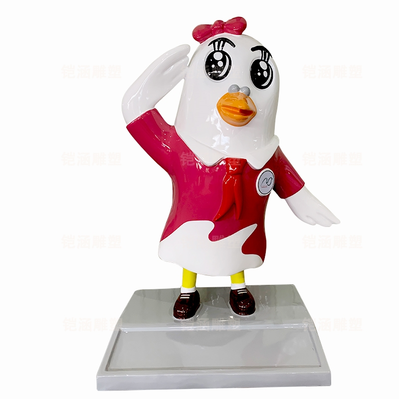 校园 鸽子 吉祥物 玻璃钢 雕塑 定制