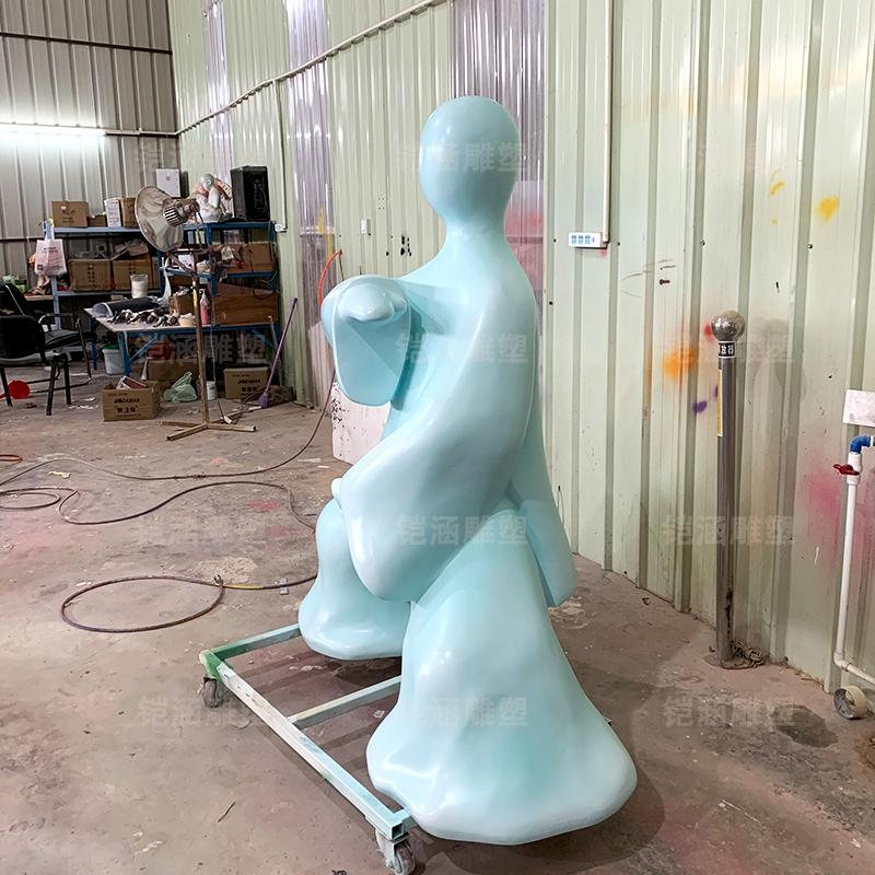 太极人 写意 艺术 场景 玻璃钢 雕塑 定制
