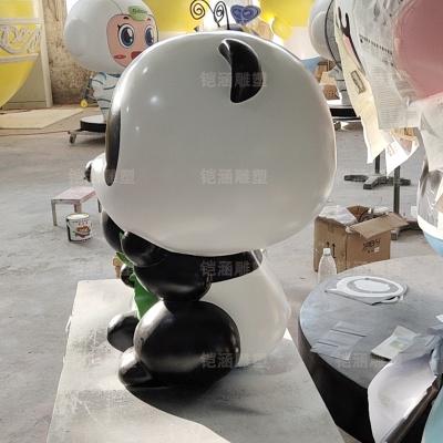 熊猫 场景 装饰 浮雕 玻璃钢 雕塑 定制