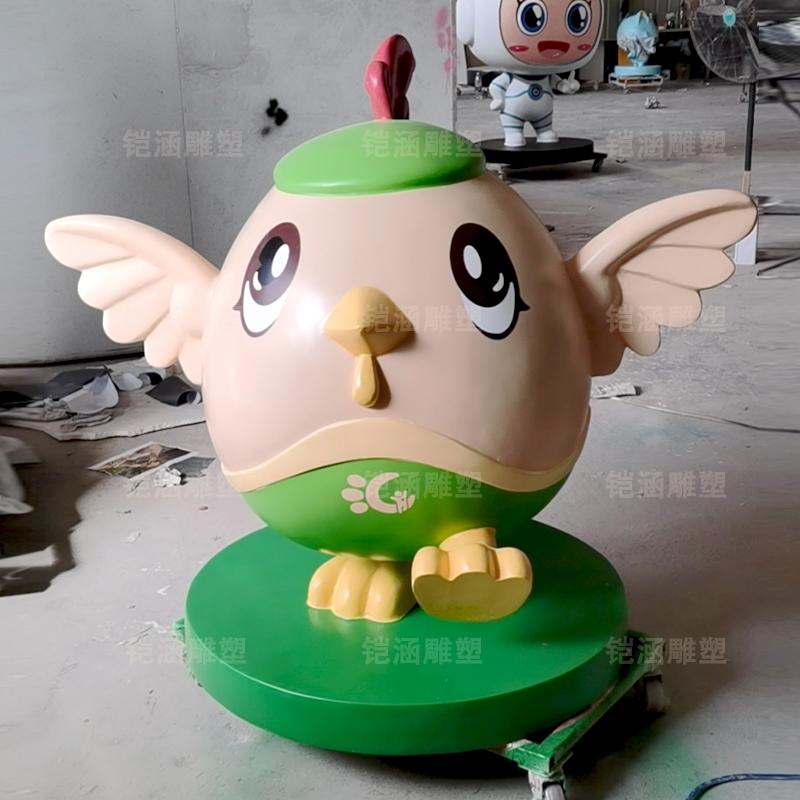 椰子鸡 卡通 吉祥物 公仔 玻璃钢 雕塑 定制