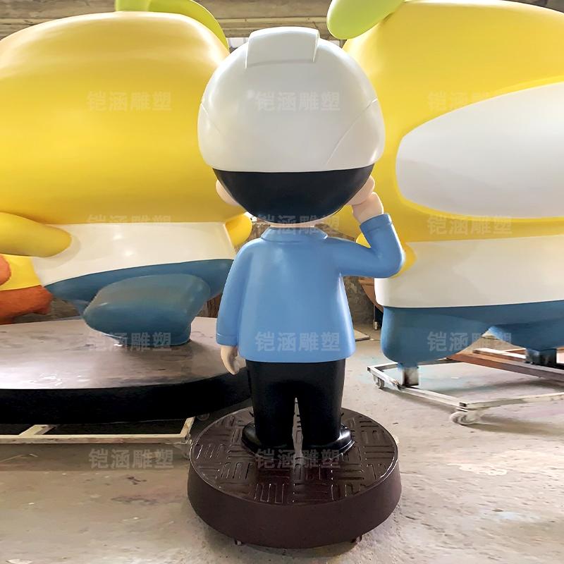 水务 吉祥物 卡通 人物 公仔 玻璃钢 雕塑 定制