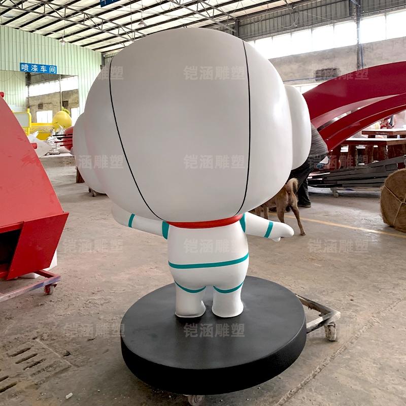 乐乐 卡通 吉祥物 公仔 玻璃钢 雕塑 定制