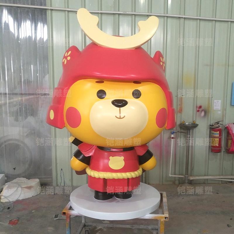 武士小熊 可爱 卡通 公仔 吉祥物 玻璃钢 雕塑
