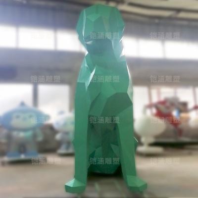滑板 狗 抽象 玻璃钢 雕塑 定制