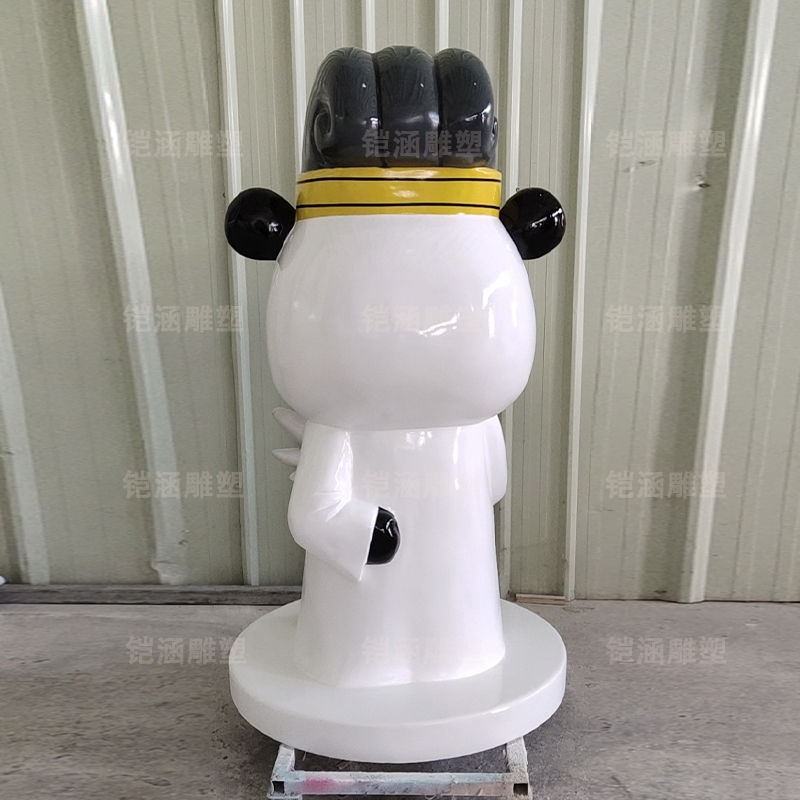 诸葛亮 孔明 熊猫 卡通 公仔 玻璃钢 雕塑 定制