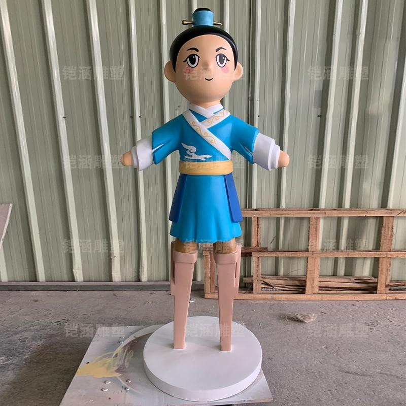古代 卡通 戏剧 人物 玻璃钢 雕塑 公仔 摆件