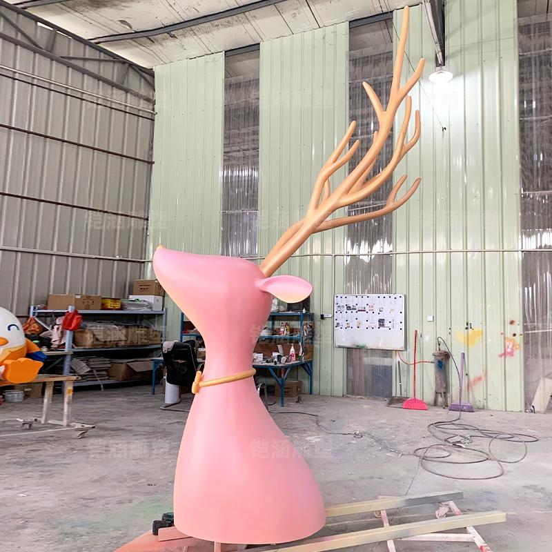 动物 艺术 抽象 鹿 摆件 玻璃钢 雕塑 定制
