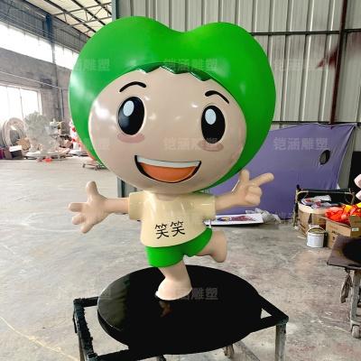 学校形象笑笑卡通人物公仔玻璃钢雕塑定制