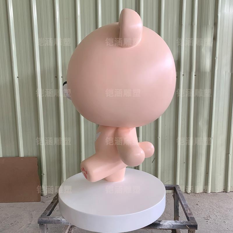 卡通动物小熊玻璃钢雕塑摆件定制